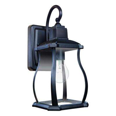 Northampton 1-Light Black 180° Motion Activated Outdoor Wall Lantern Sconce