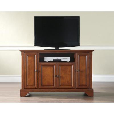 LaFayette 48 in. Cherry Wood TV Stand Fits TVs Up to 50 in. with Storage Doors