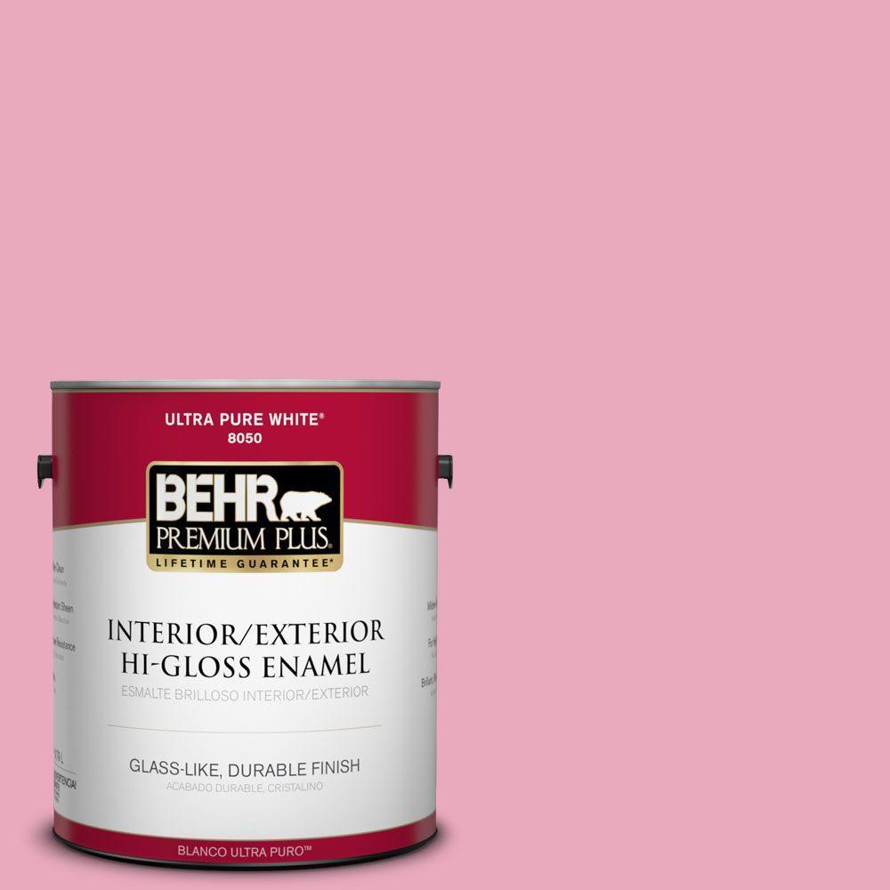 BEHR Premium Plus 1-gal. #T11-14 Kawaii Hi-Gloss Enamel Interior/Exterior Paint