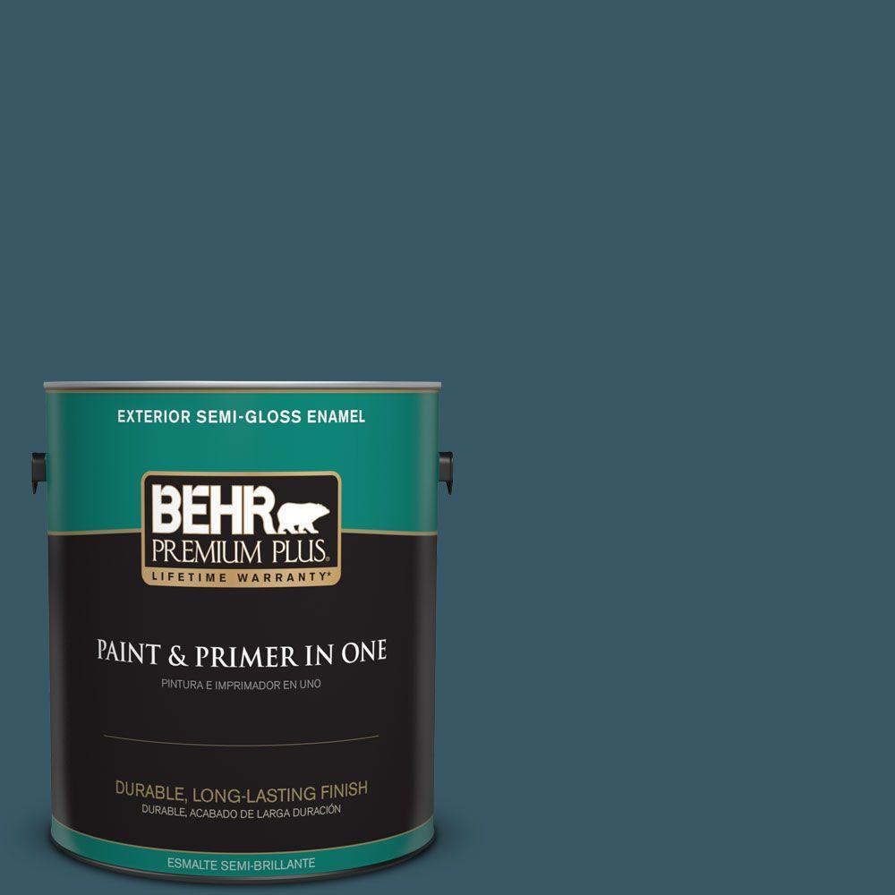 1-gal. #S460-7 Deep Breath Semi-Gloss Enamel Exterior Paint