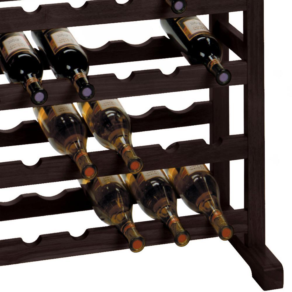Winsome Wood Vinny 24 Bottle Espresso Floor Wine Rack 92023 The