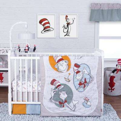Dr. Seuss Classic Cat in the Hat 3-Piece Crib Bedding Set