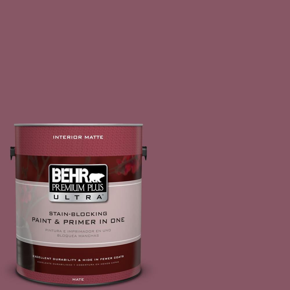 1 gal. #100D-6 Rose Garland Flat/Matte Interior Paint