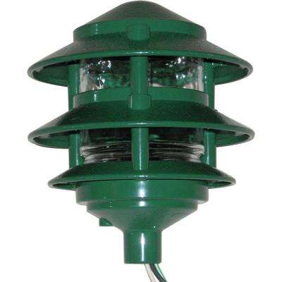 Weatherproof 3 Tier Path Light - Green