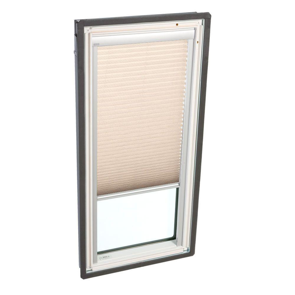 Lovely Latte Manual Light Filtering Skylight Blinds for FS D26 and