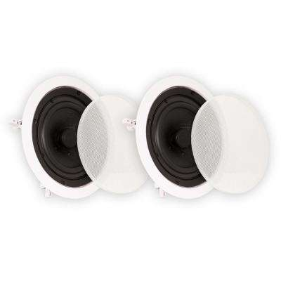 In Ceiling 6.5 in. Speakers Surround Sound Home Theater Pair