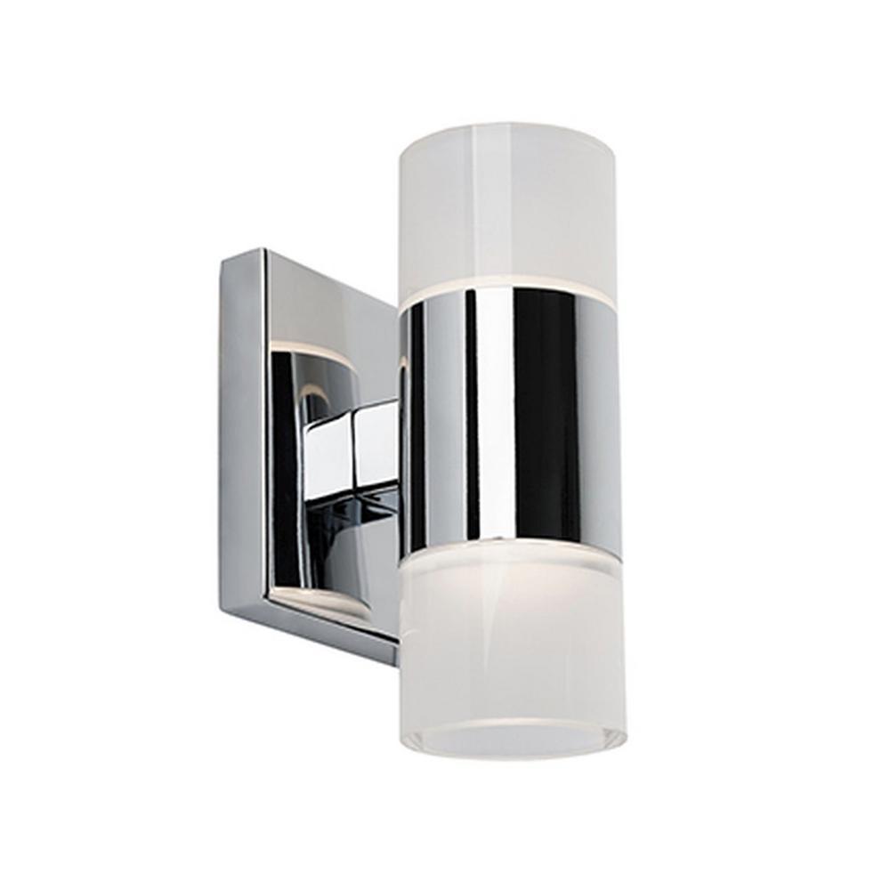 Auburn 60-Watt Equivalence Chrome Integrated LED Sconce