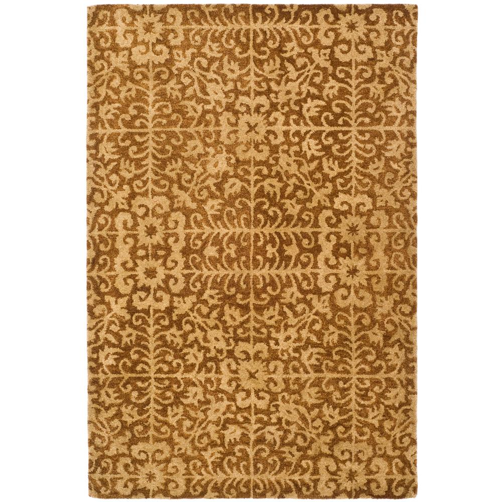 Antiquity Gold/Beige 4 ft. x 6 ft. Area Rug