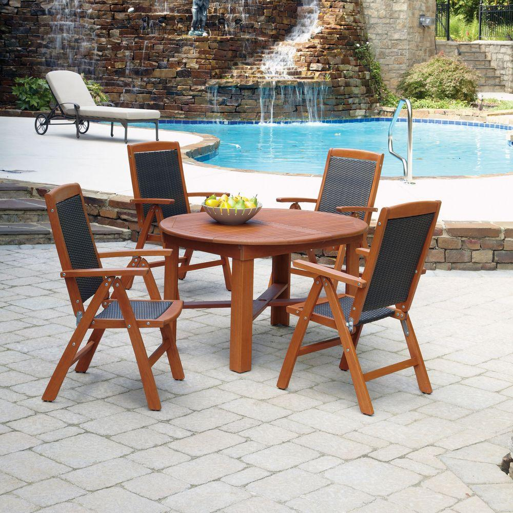 Home Styles Bali Hai 5-Piece Outdoor Patio Dining Set