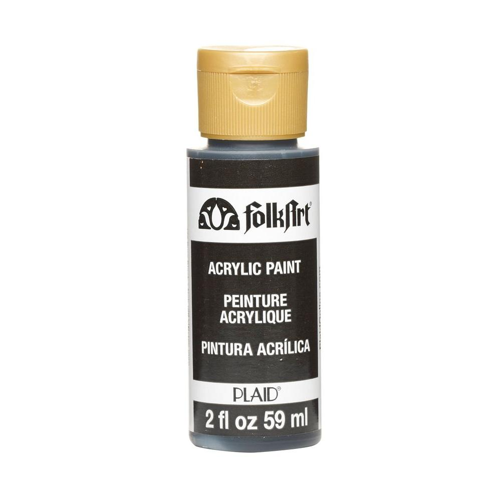 folkart 2 oz pure black acrylic craft paint k479 the home depot