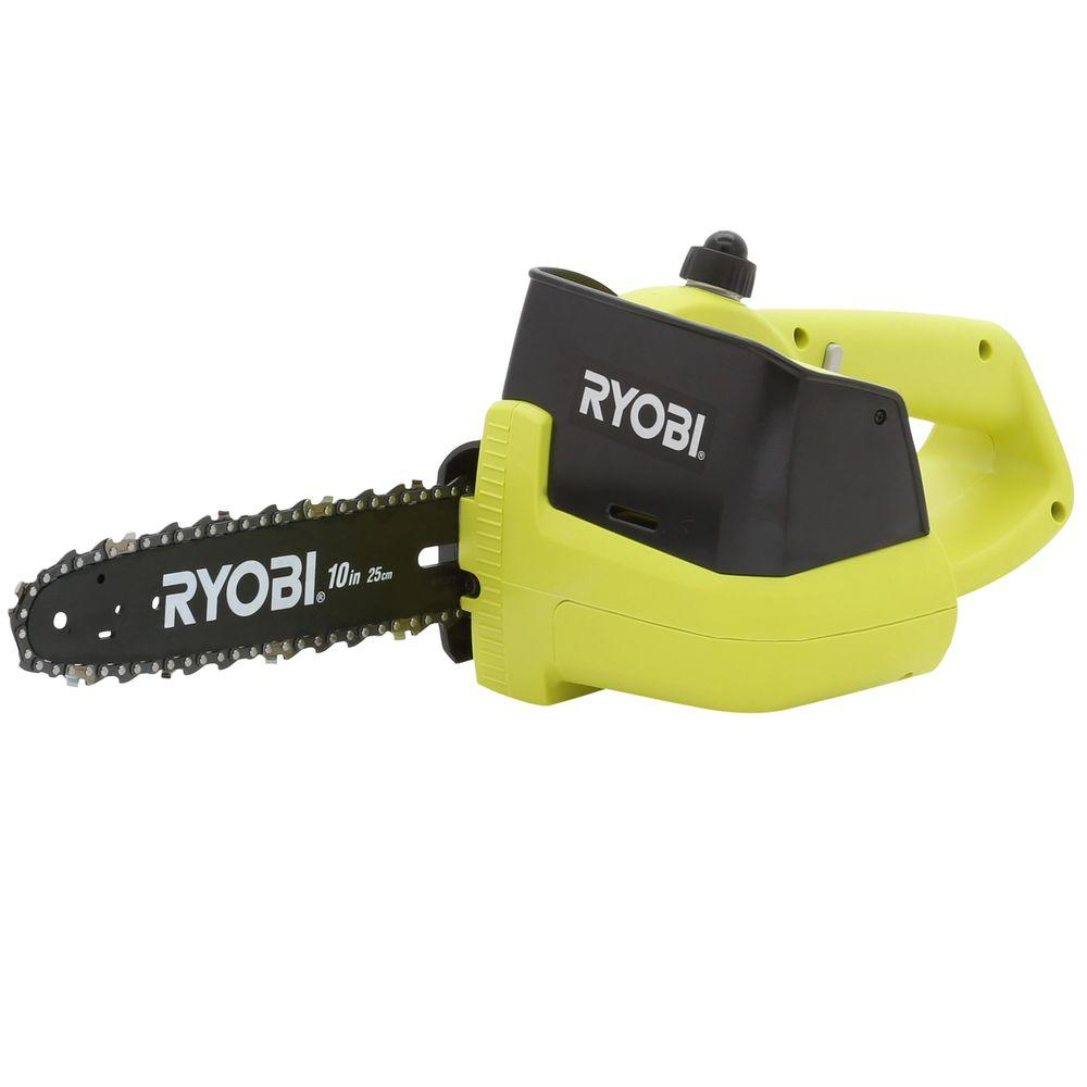 Ryobi ONE+ 10 in. 18-Volt Cordless Chainsaw - Battery and Charger Not Included