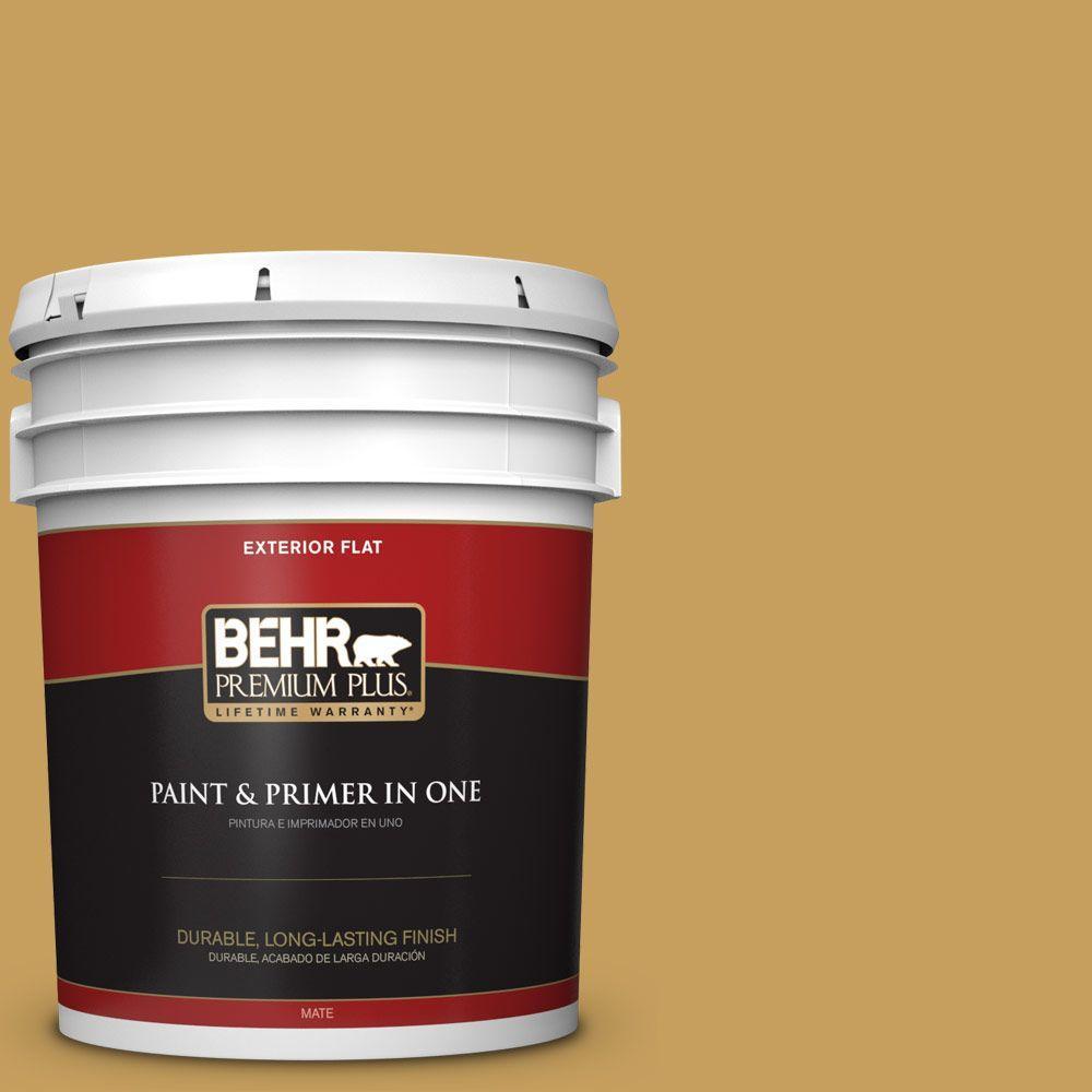 5-gal. #M300-5 Ginger Jar Flat Exterior Paint