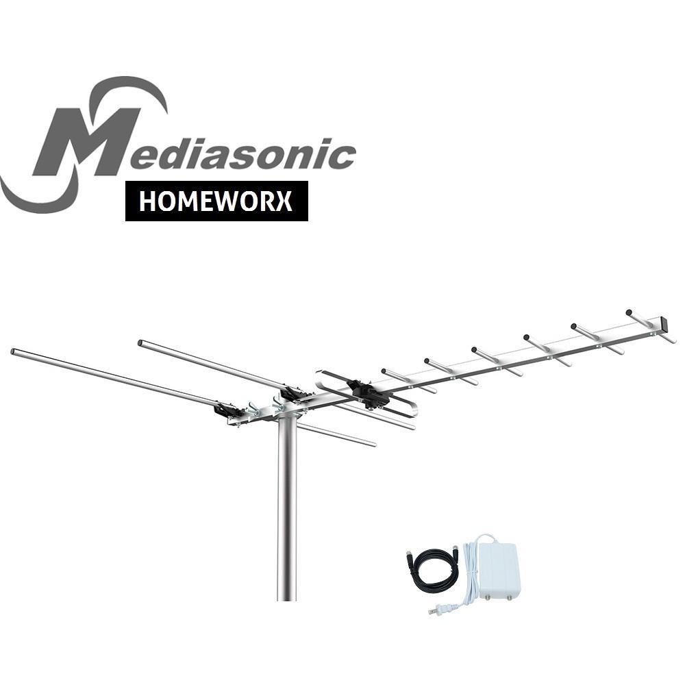 Ge Pro Outdoor Yagi Antenna 33685 The Home Depot 8 Bay Wiring Diagram Homeworx Hdtv Digital Tv 100 Miles Range With Signal