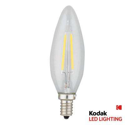 25W Equivalent Warm White E12 Candle Torpedo Dimmable LED Light Bulb