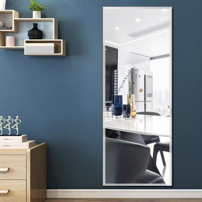 "Modern 59"" x 20"" Rectangle Frameless Beveled Wall Mounted Mirror Full Length Hanging Mirror for Doors & Walls"