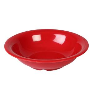 Coleur 19 oz., 7-1/2 in. Soup Bowl in Pure Red (12-Piece)