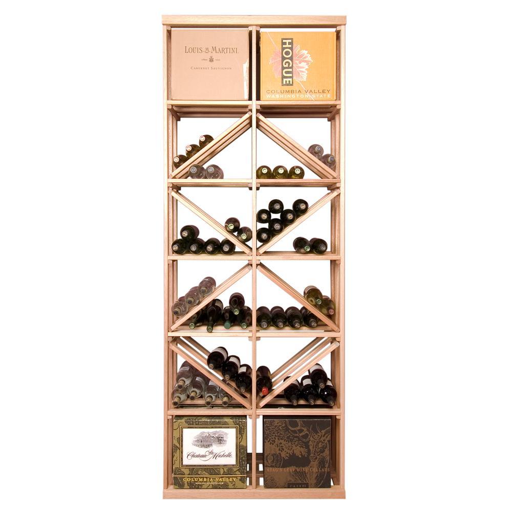 168-Bottle Pine Floor Wine Rack