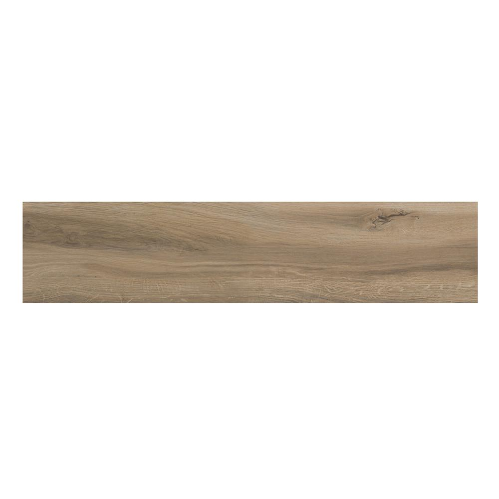 ELIANE Portland Birch 8 in. x 36 in. Glazed Porcelain Floor and Wall ...