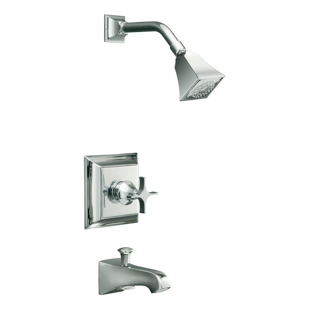 KOHLER Memoirs 1-Handle Pressure-Balancing Bath and Shower Faucet Trim Only in Polished Chrome