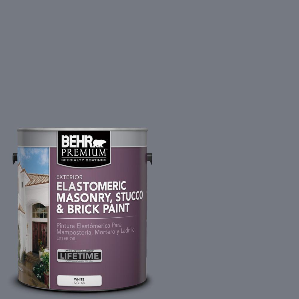 1 gal. #N510-5 Liquid Mercury color Elastomeric Masonry, Stucco and Brick