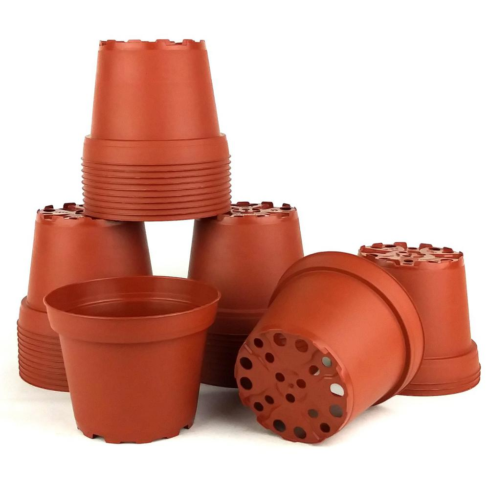 4 in. Dia Terra Cotta Pots (35-Pack)
