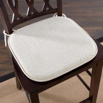 16 in. x 16 in. Beige Memory Foam Chair Pad
