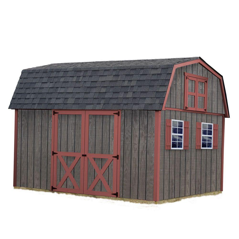 best barns meadowbrook 10 ft x 12 ft wood storage shed kit - Garden Shed Kits