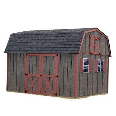 meadowbrook 10 ft x 12 ft wood storage shed kit