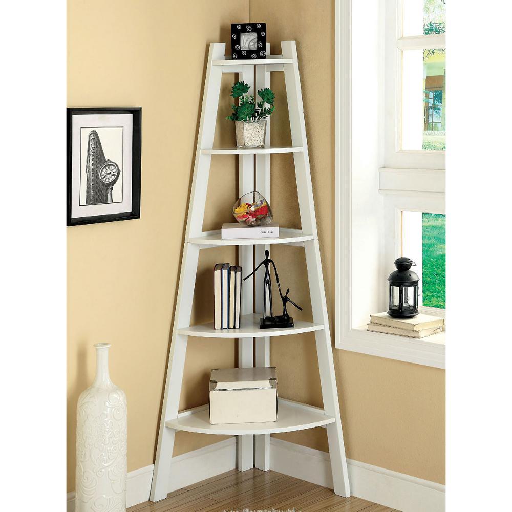 finest selection 3d9b4 56323 Lyss White Ladder Bookshelf