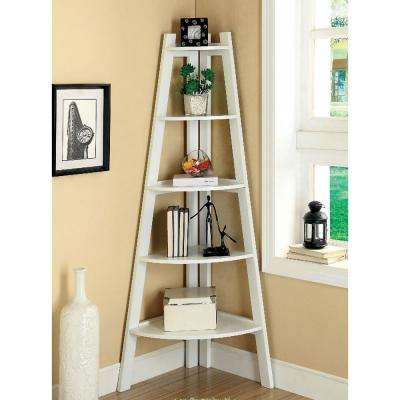 Lyss White Ladder Bookshelf