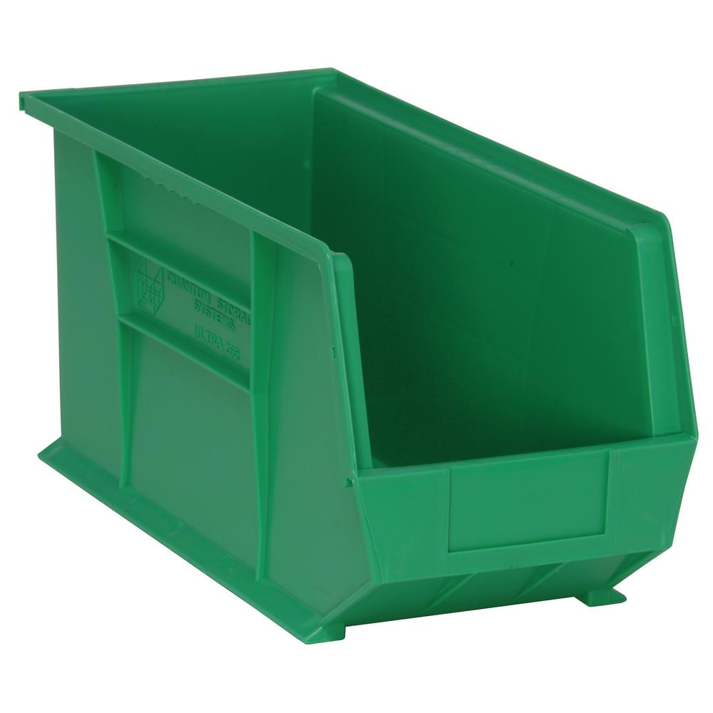 Ultra Series Stack and Hang 7 Gal. Storage Bin in Green (6-Pack)