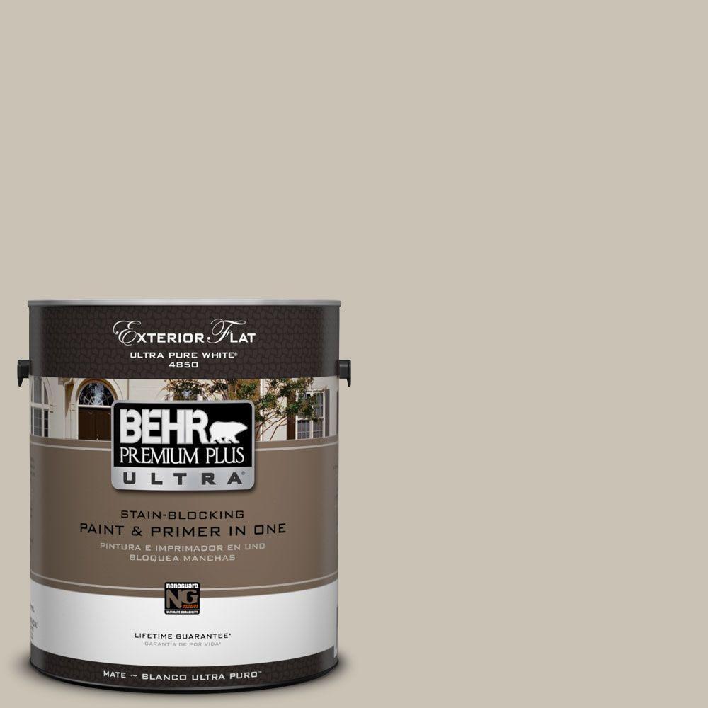 BEHR Premium Plus Ultra 1-Gal. #UL170-9 Sculptor Clay Flat Exterior Paint