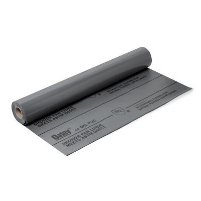 Oatey 5 Ft X 40 Ft Pvc Shower Pan Liner Roll In Gray 41597 The