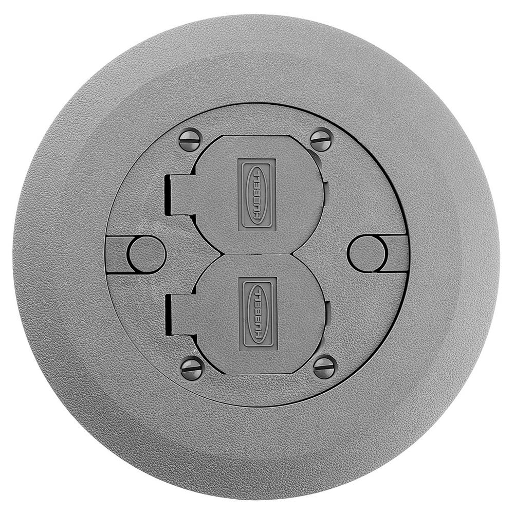 Raco Round Floor Box Cover Kit With 2