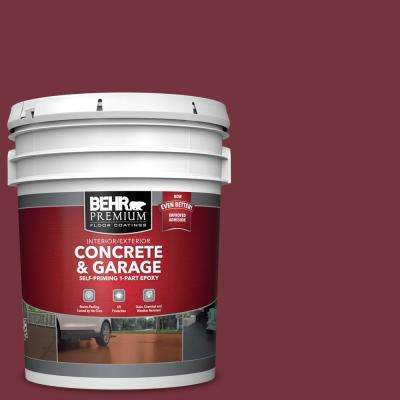 5 gal. #PFC-04 Tile Red Self-Priming 1-Part Epoxy Satin Interior/Exterior Concrete and Garage Floor Paint