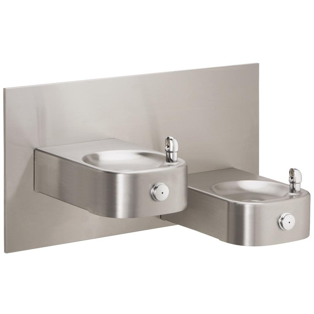 Soft Sides Bi-Level Wall Mounted Drinking Fountain