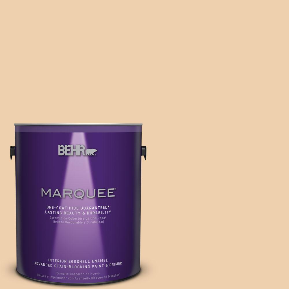 1 gal. #MQ3-43 Ceramic Beige Eggshell Enamel One-Coat Hide Interior Paint