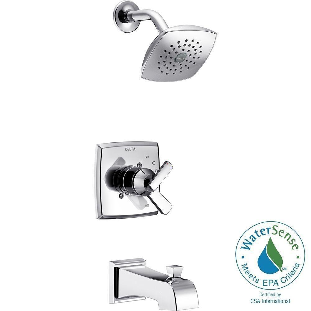 Delta Ashlyn 1 Handle Pressure Balance Tub And Shower Faucet Trim