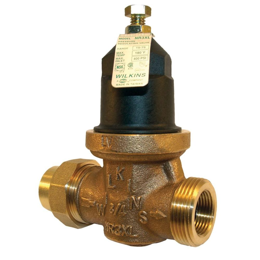 zurn wilkins 1 in no lead brass water pressure reducing valve 1 nr3xl the home depot. Black Bedroom Furniture Sets. Home Design Ideas