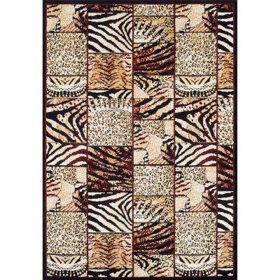 Ferrera Collection Cheetah Multi 5 ft. x 8 ft. Area Rug