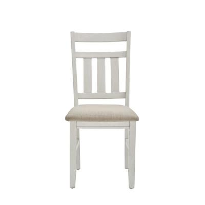 Krause Distressed White Side Chair