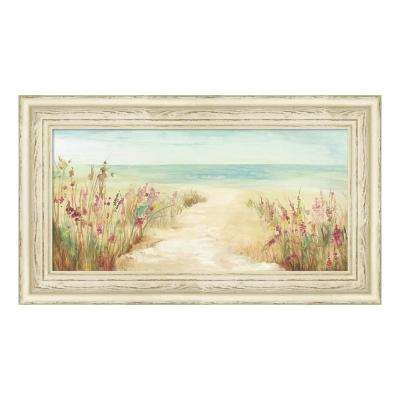 """By The Beach"" by Asia Jensen Framed Canvas Wall Art"