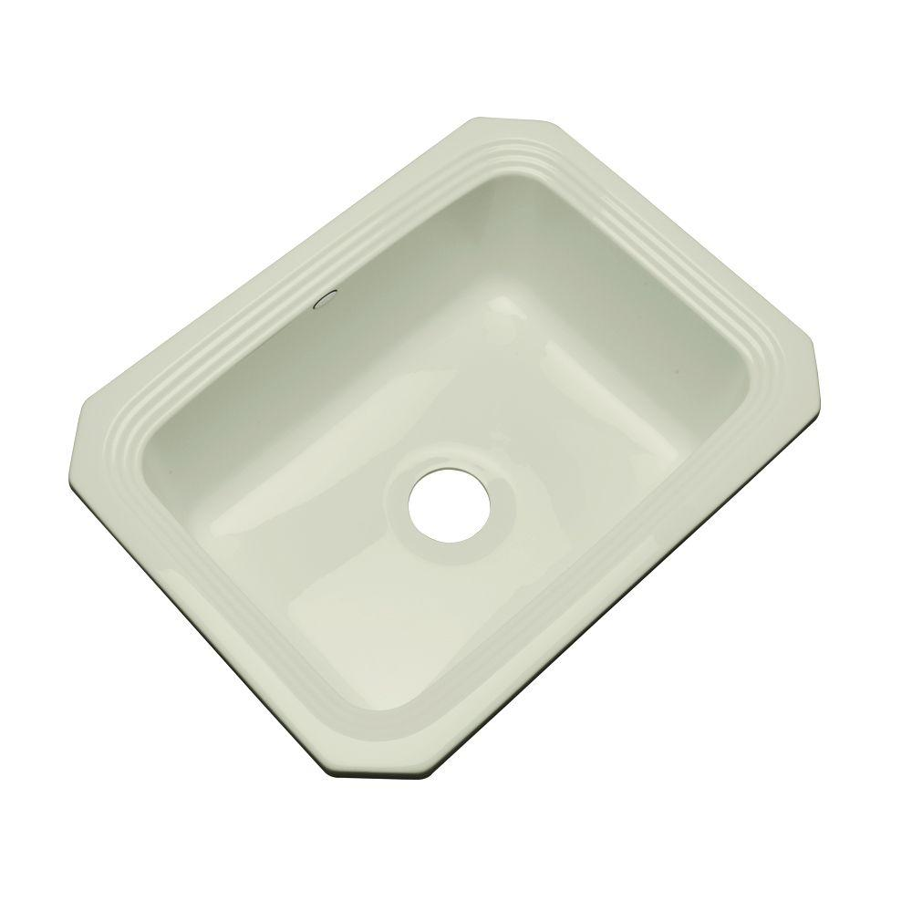 Thermocast Rochester Undermount Acrylic 25 in. Single Basin Kitchen Sink in Jersey Cream
