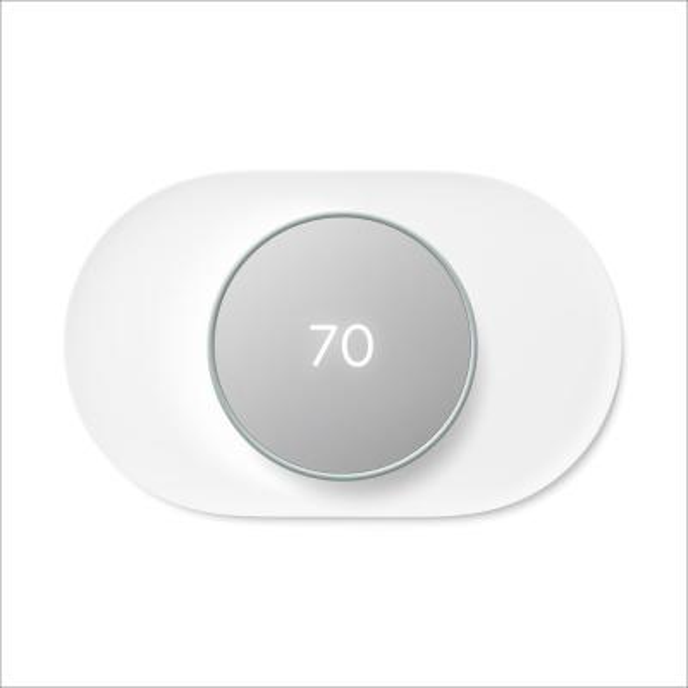 Nest Thermostat Fog + Nest Thermostat Trim Kit Snow