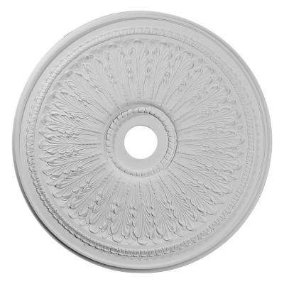 29-1/8 in. O.D. x 3-5/8 in. I.D. x 1 in. P Oakleaf Ceiling Medallion