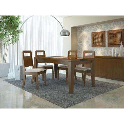Trimble Nut Brown and Black Gloss Dining Table