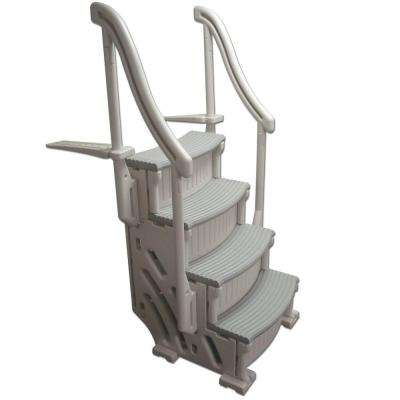 Pool steps ladders pool parts the home depot - Above ground swimming pool supplies ...