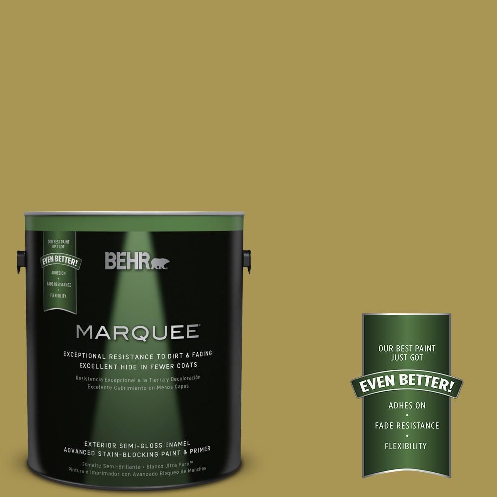 1-gal. #390D-6 Spring Moss Semi-Gloss Enamel Exterior Paint