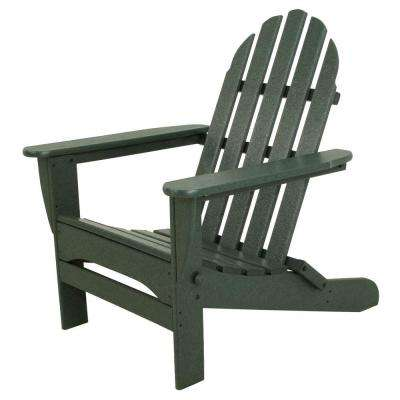 Classics Green Plastic Patio Adirondack Chair