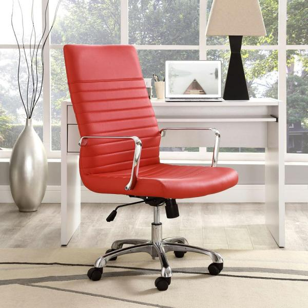 MODWAY Finesse Highback Office Chair in Red EEI-1061-RED